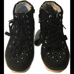 Justice Jeweled High Top Sneakers